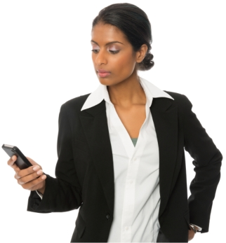business person on cell phone